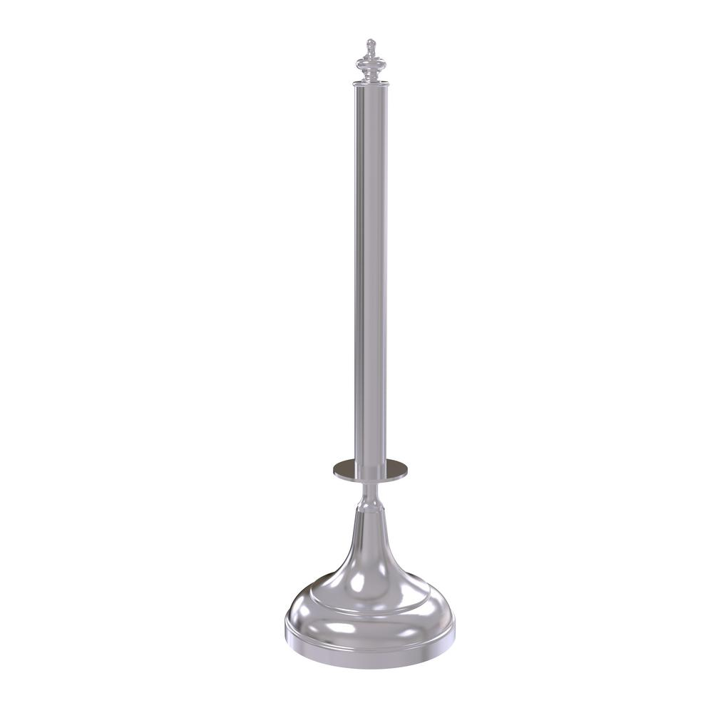 Traditional Counter Top Kitchen Paper Towel Holder in Satin Chrome