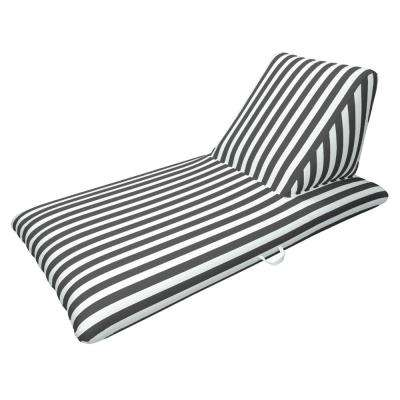 Morgan Dwyer Signature Series Pool Chaise Lounge - Black Luxury Fabric Float for Swimming Pools