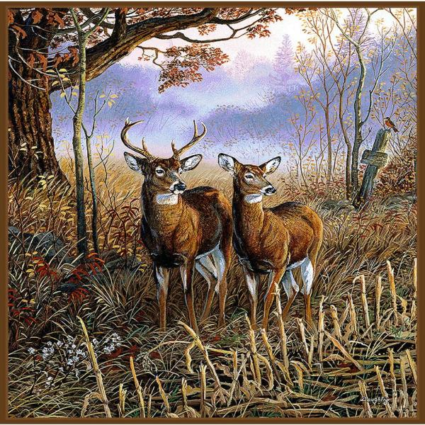 Deer Family Multi-Colored Throw 3750-T