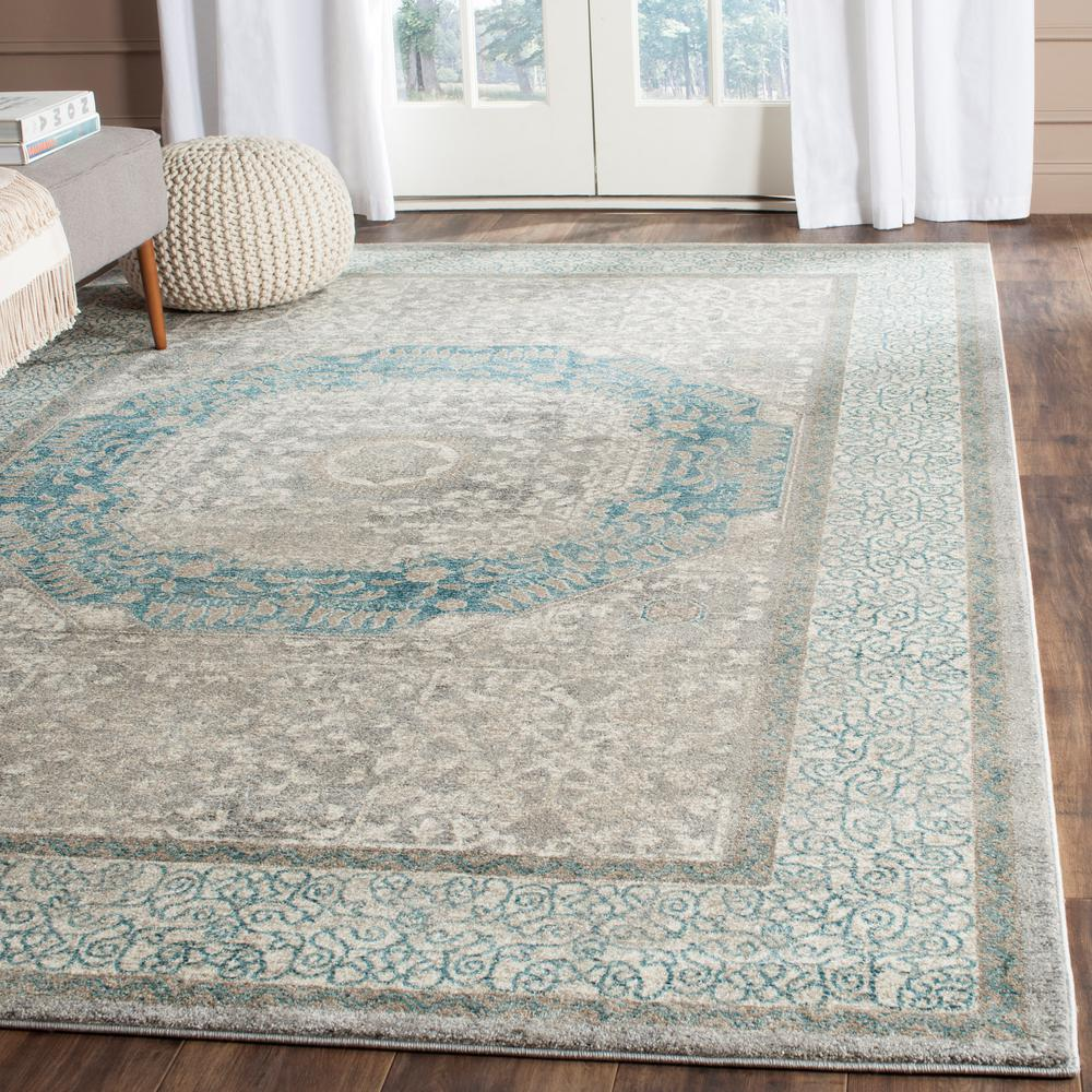Safavieh Sofia Light Grey Blue 8 Ft X 11 Area Rug