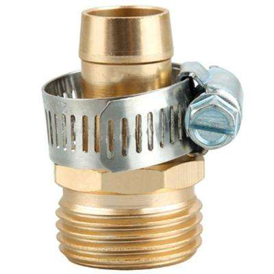 5/8 in. Metal Garden Hose Male Thread Repair with Stainless Steel Clamp