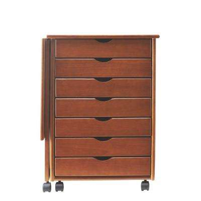Stanton 21 in. W Single Gate Leg Storage Cart in Walnut