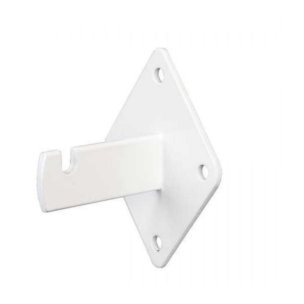 Wall Mount Brackets for Grid or Slatgrid Panels in White (25-Pack)