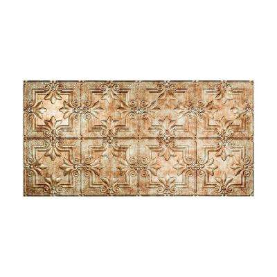 Regalia 2 ft. x 4 ft. Vinyl Glue-Up Ceiling Tile in Bermuda Bronze