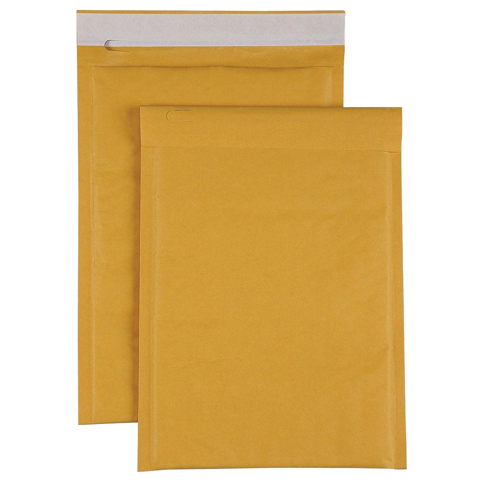 Bubble Cushioned Mailers Envelope, Kraft (250-Carton)