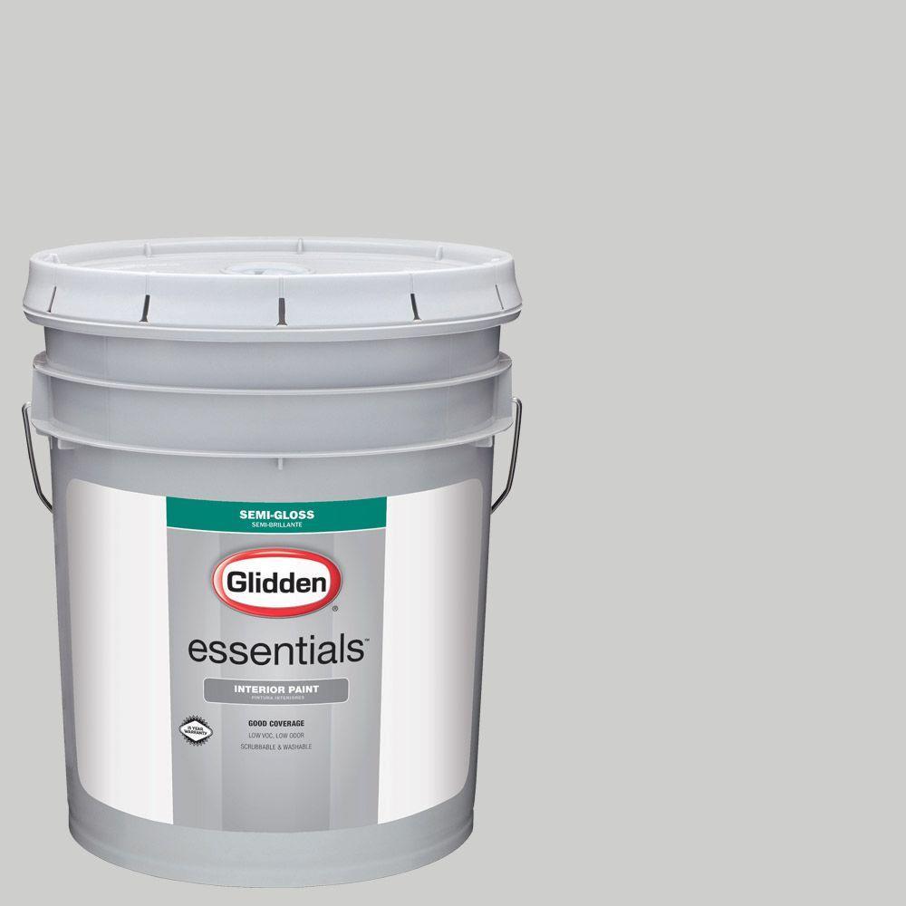 5 gal. #HDGCN61 Universal Grey Semi-Gloss Interior Paint
