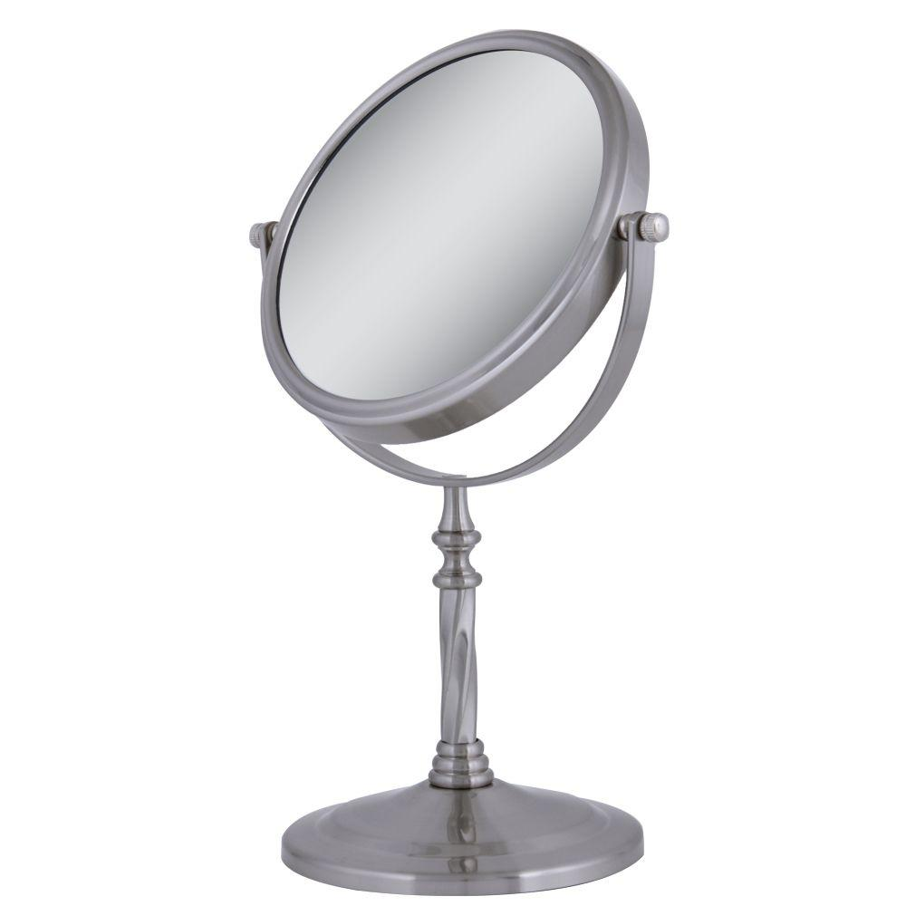 satin nickel mirror zadro dual sided swivel vanity mirror in satin nickel 2104