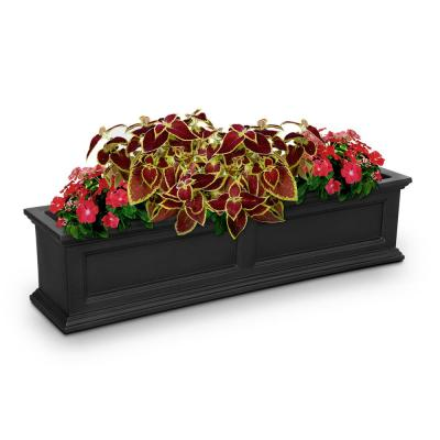 48 in. x 11 in. Black Plastic Window Box