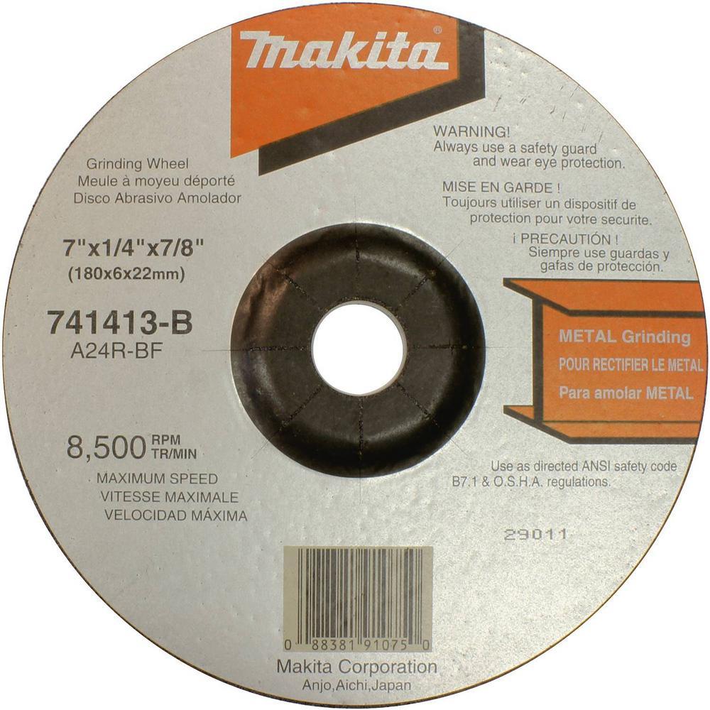 A-24-ALU Grit Abrasive Wheels Walter 08L455 Aluminum Grinding and Cutting Wheel - Die Grinder Wheel Pack of 10 4-1//2 in