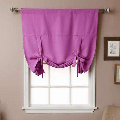 Basic 42 in. W X 63 in. L Drapery Panel in Violet