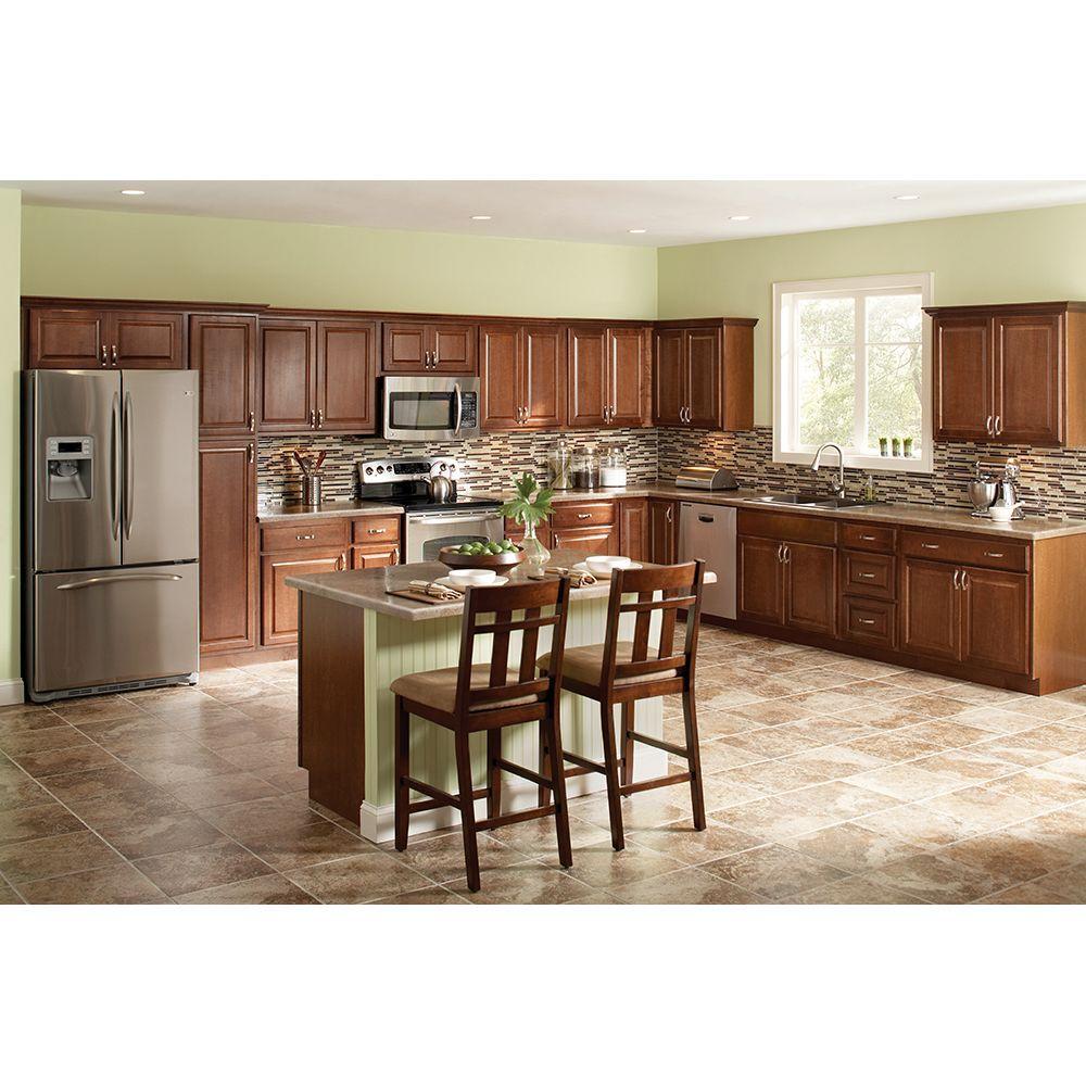 Hampton Bay Hampton Assembled 30x30x12 in. Wall Kitchen Cabinet in ...