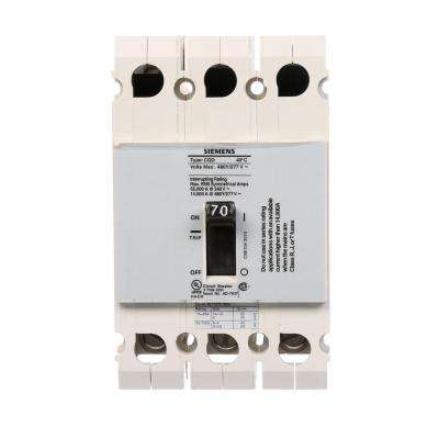 70 Amp Triple Pole Type CQD Cable In Cable Out DIN Rail Circuit Breaker