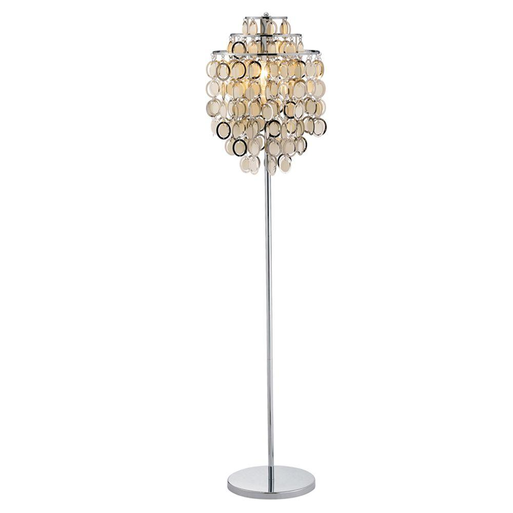 Adesso Shimmy 64 in. Chrome Floor Lamp
