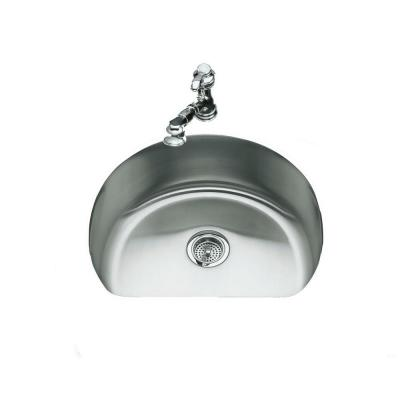 Undertone Undercounter Undermount Stainless Steel 24.25 in. 0 Hole Single Basin Kitchen Sink