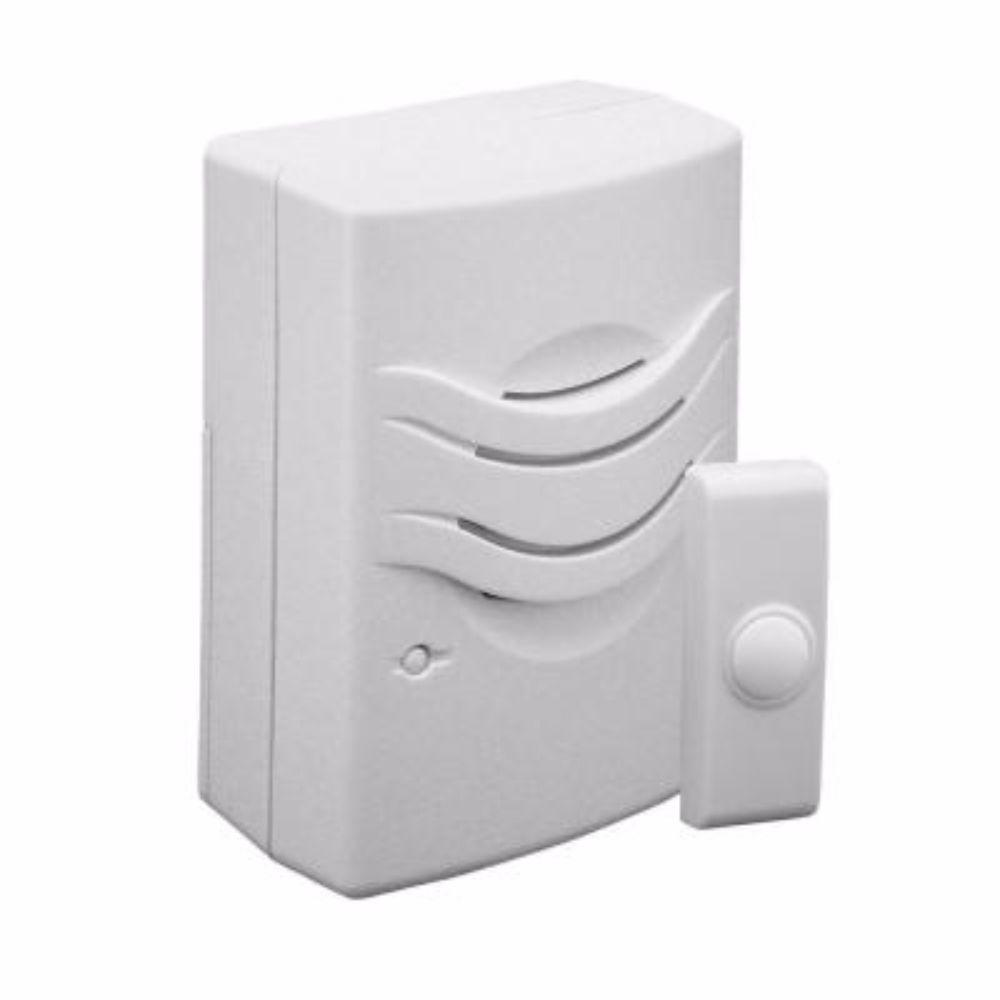 Wireless Doorbell Chime with 2-Tone, White