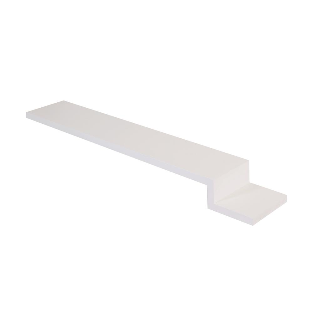 Brookings 42 in. x 6 in. Cabinet Filler Strip in White