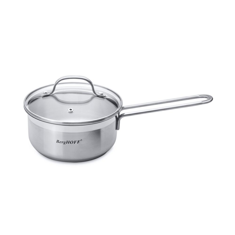 Essentials 1.43 Qt. Stainless Steel Covered Sauce Pan