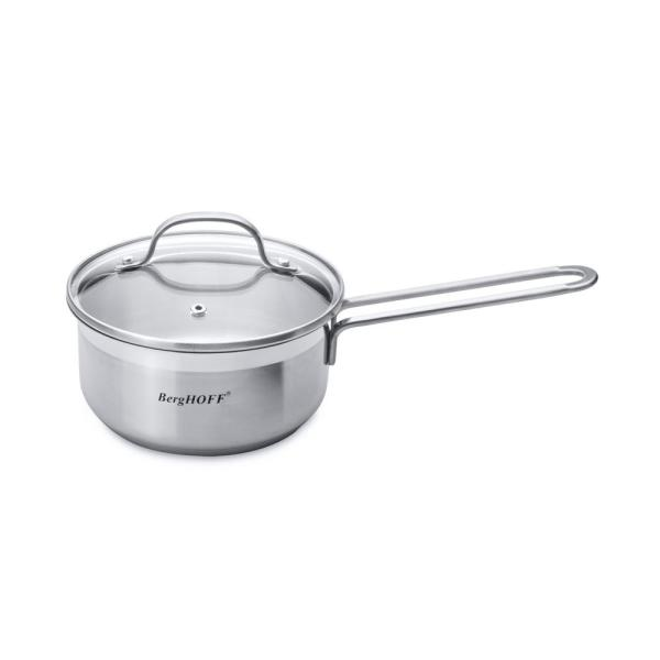 BergHOFF Essentials 1.43 Qt. Stainless Steel Covered Sauce Pan 1100096