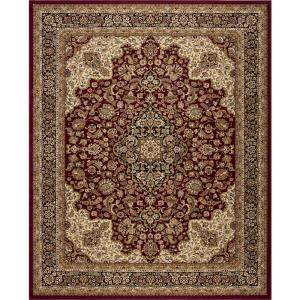 Silk Road Red 8 ft. x 10 ft. Medallion Area Rug
