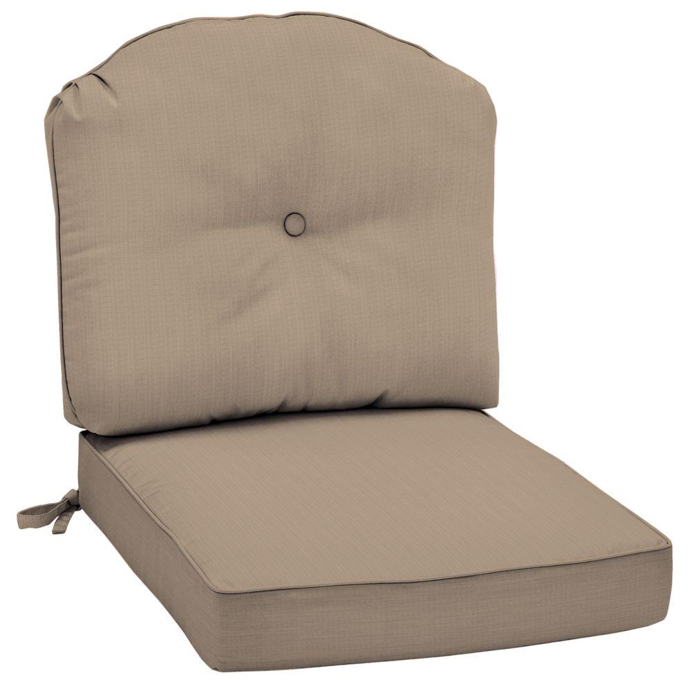 Arden Morgan Classic Canvas Heather Beige Outdoor Deep Seat Lounge Chair Cushion-DISCONTINUED
