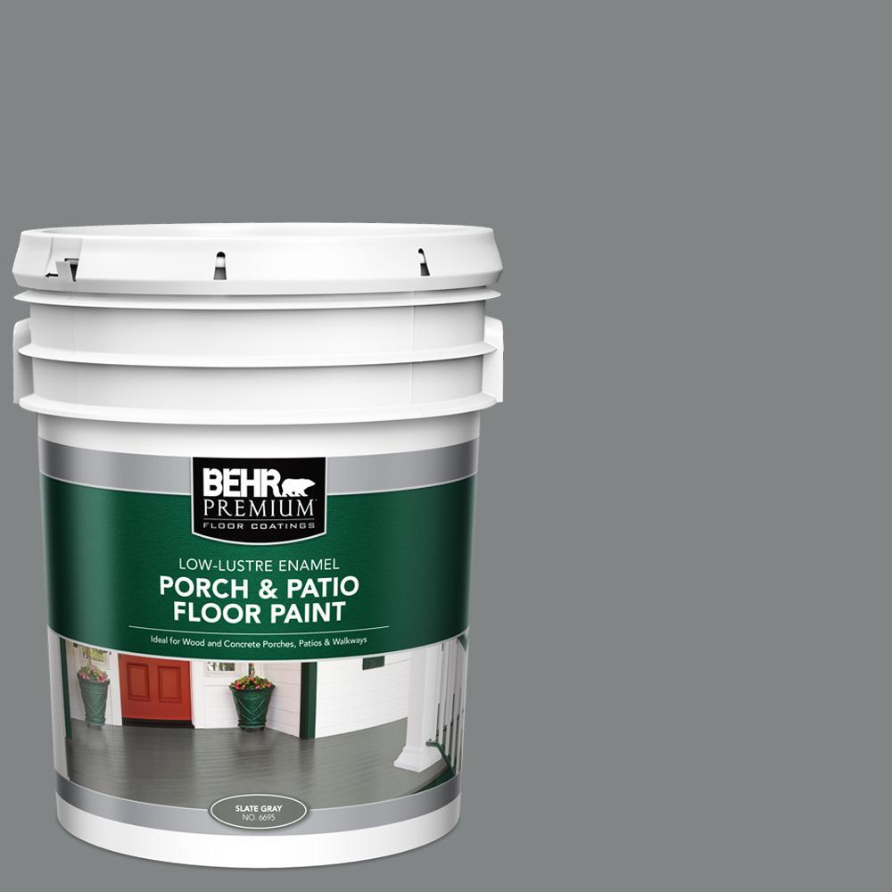 5 gal. PFC-63 Slate Gray Low-Lustre Enamel Interior/Exterior Porch and Patio Floor Paint