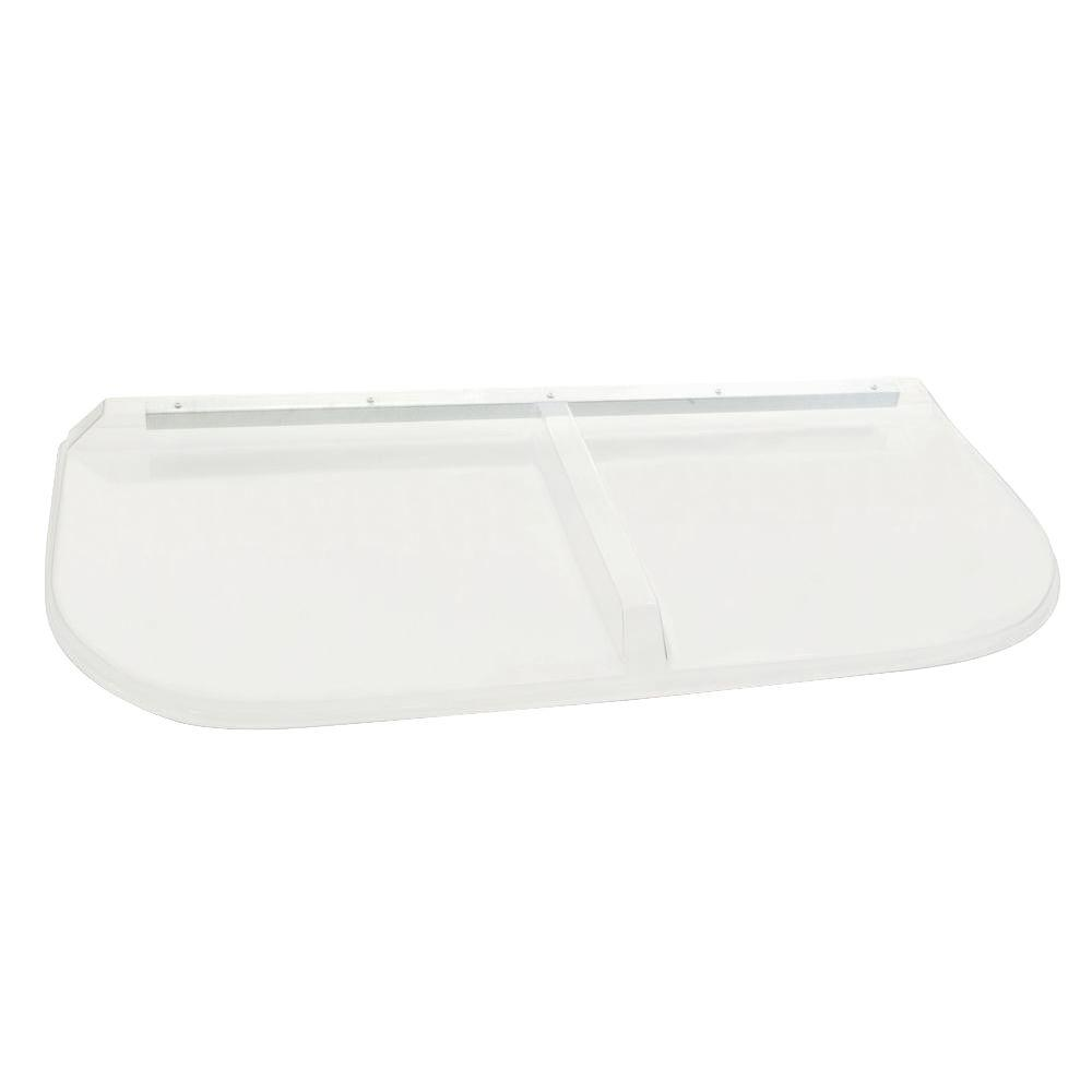 48 in. x 20 in. Polycarbonate Elongated Window Well Cover