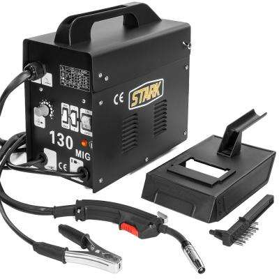 115-Volt MIG 130 Welder Flux Core Wire Automatic Feed Welding Machine DIY Tool with Protective Mask Kit