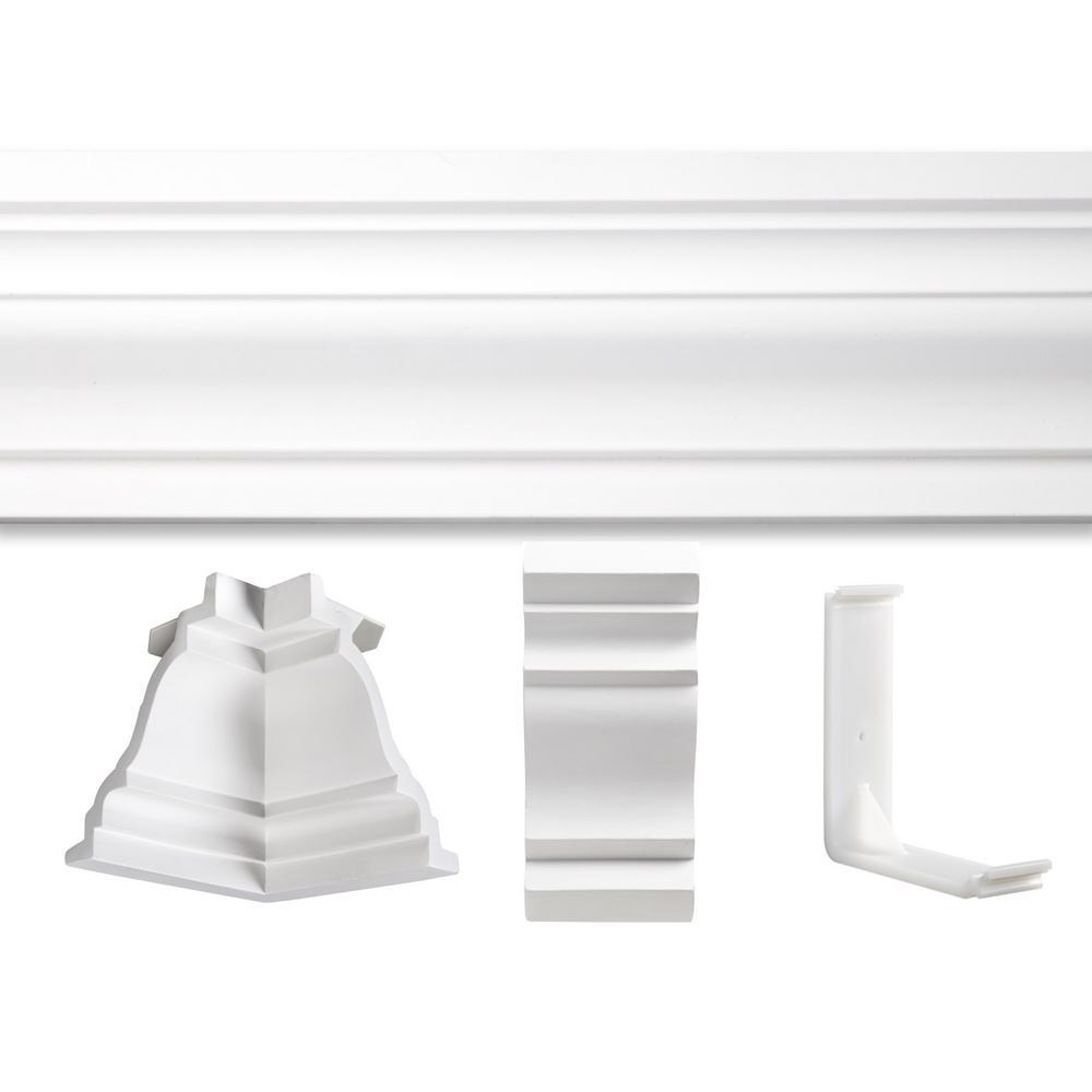 3/4 in. x 20 ft. x 20 ft. Polyurethane St. James Crown Moulding Room Kit
