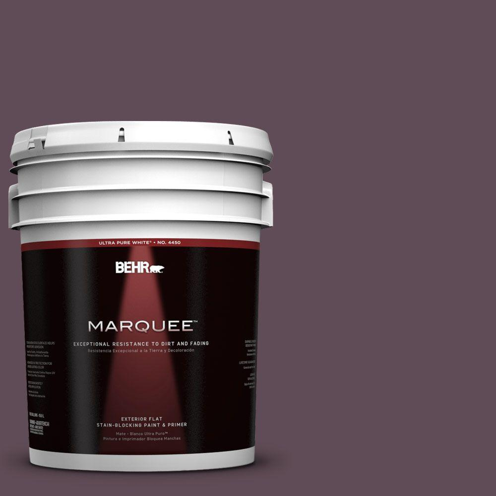 5-gal. #UL100-23 Berry Wine Flat Exterior Paint