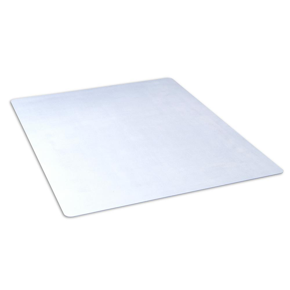 Lovely Clear Rectangle Office Chair Mat For Hard Floors