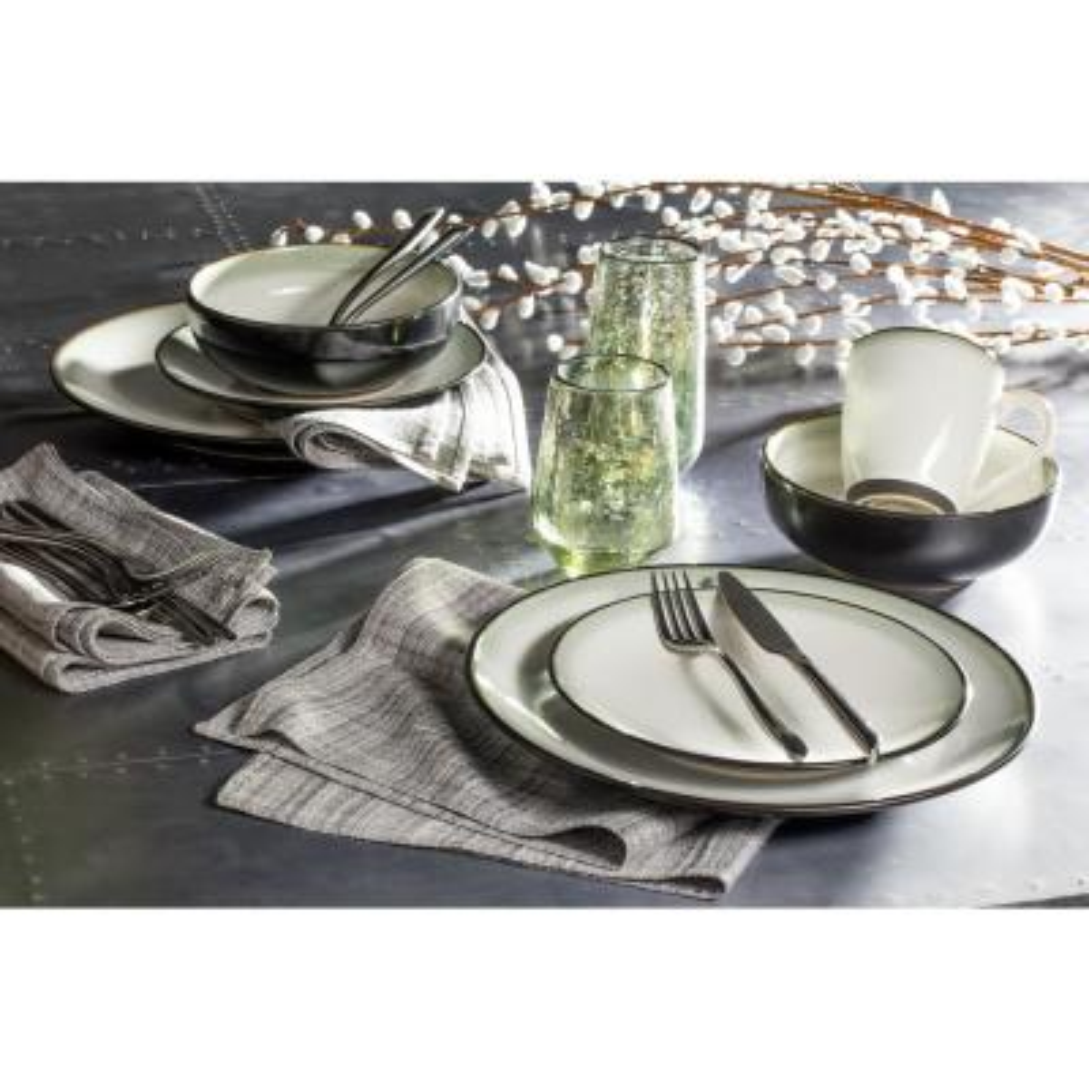 Nova Black 16-Piece Dinnerware Set