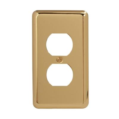 Brass 1-Gang 1-Duplex/ 1-Single Wall Plate (1-Pack)
