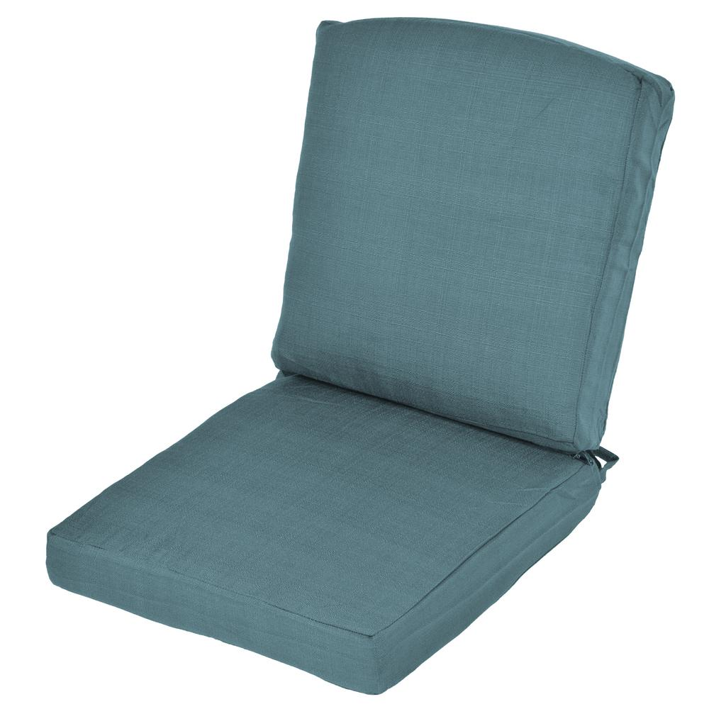Oak Cliff Charleston Replacement 2 Piece Outdoor Dining Chair Cushion