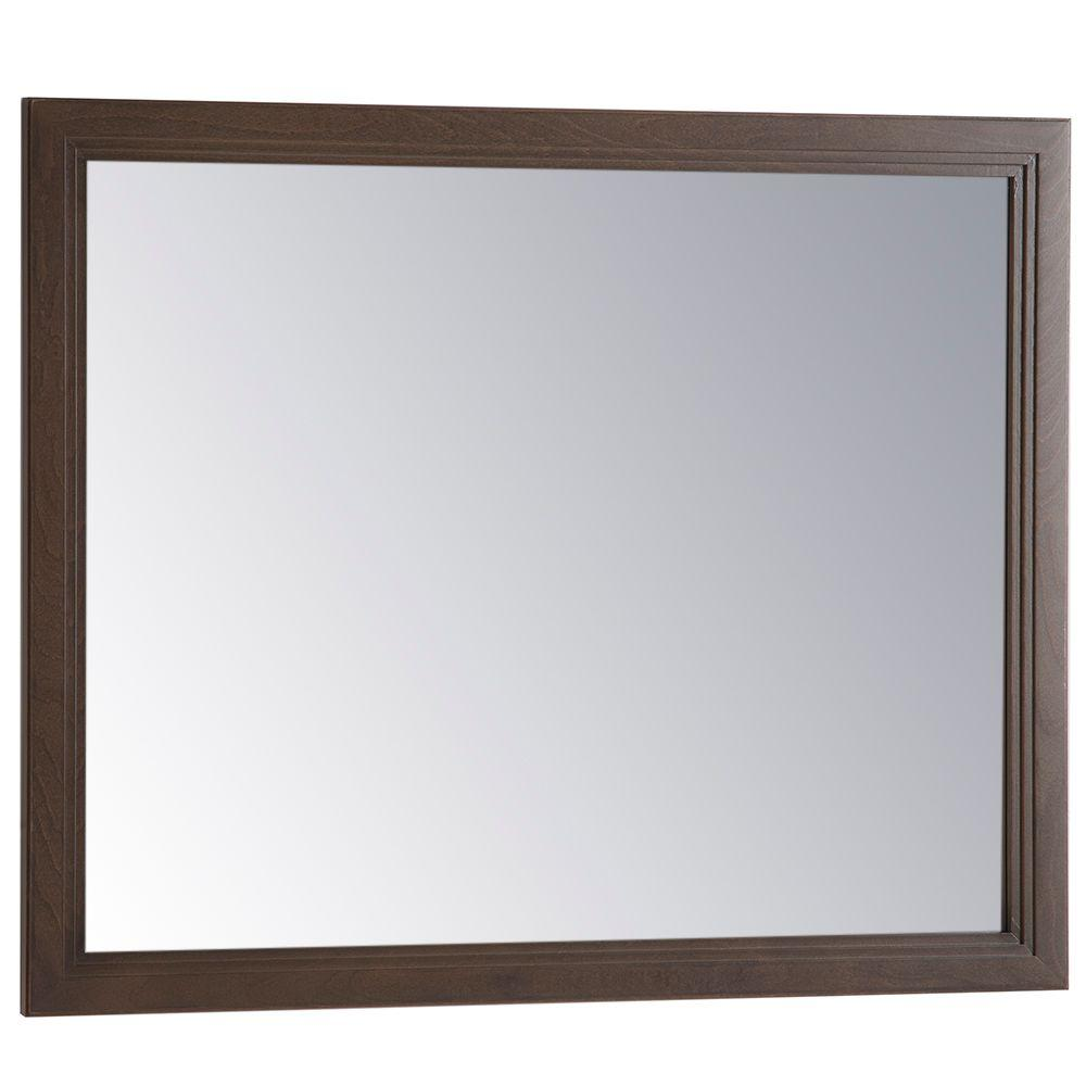 Home Decorators Collection Brinkhill 31 in. W x 26 in. H Wall Mirror in Flagstone