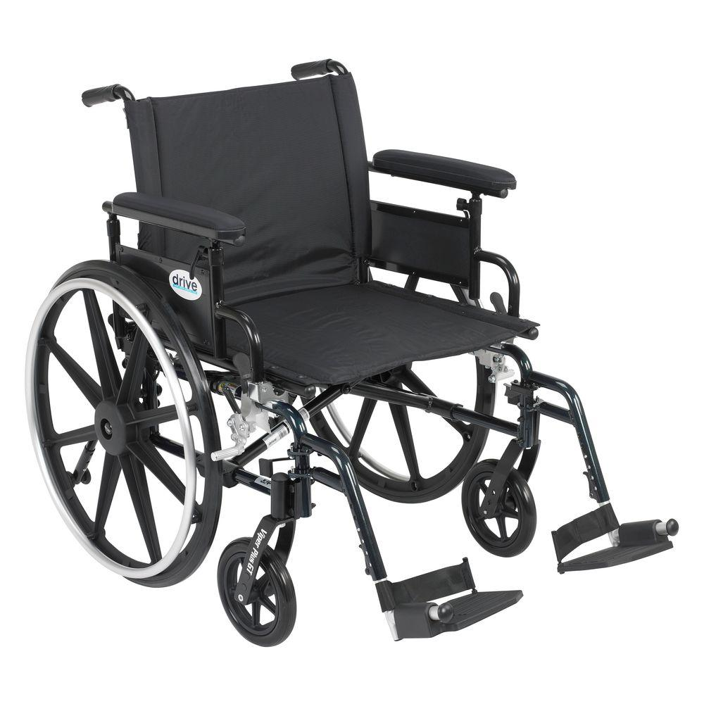 Drive Viper Plus GT Wheelchair with Removable Flip Back A...