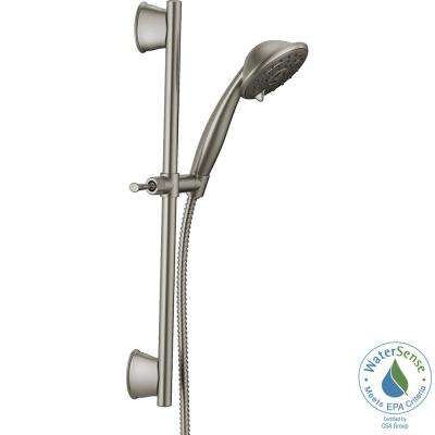 Porter 3-Spray Wall Bar Shower Kit in SpotShield Brushed Nickel