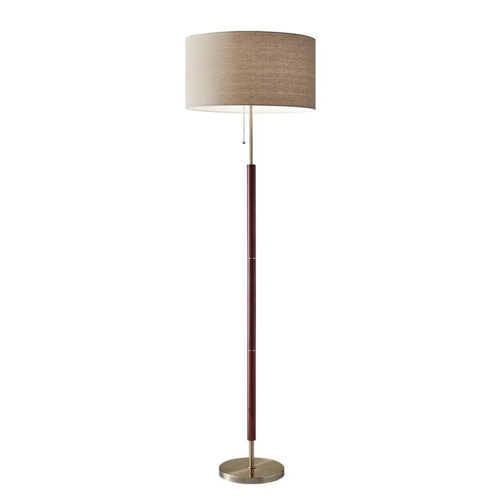 Adesso Hamilton 65 In Metal Floor Lamp 3377 15 The Home Depot