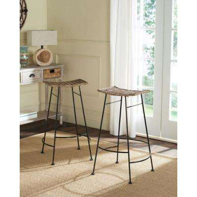 Atara 30 in. Gray Bar Stool (Set of 2)
