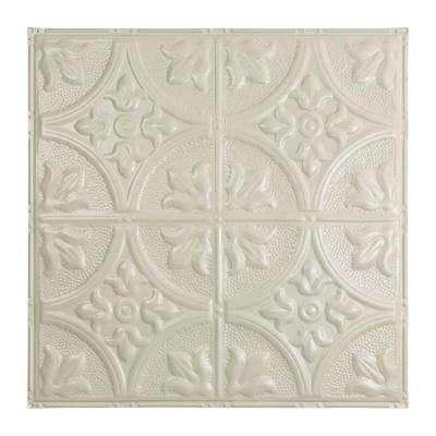 Jamestown 2 ft. x 2 ft. Nail-up Tin Ceiling Tile in Antique White