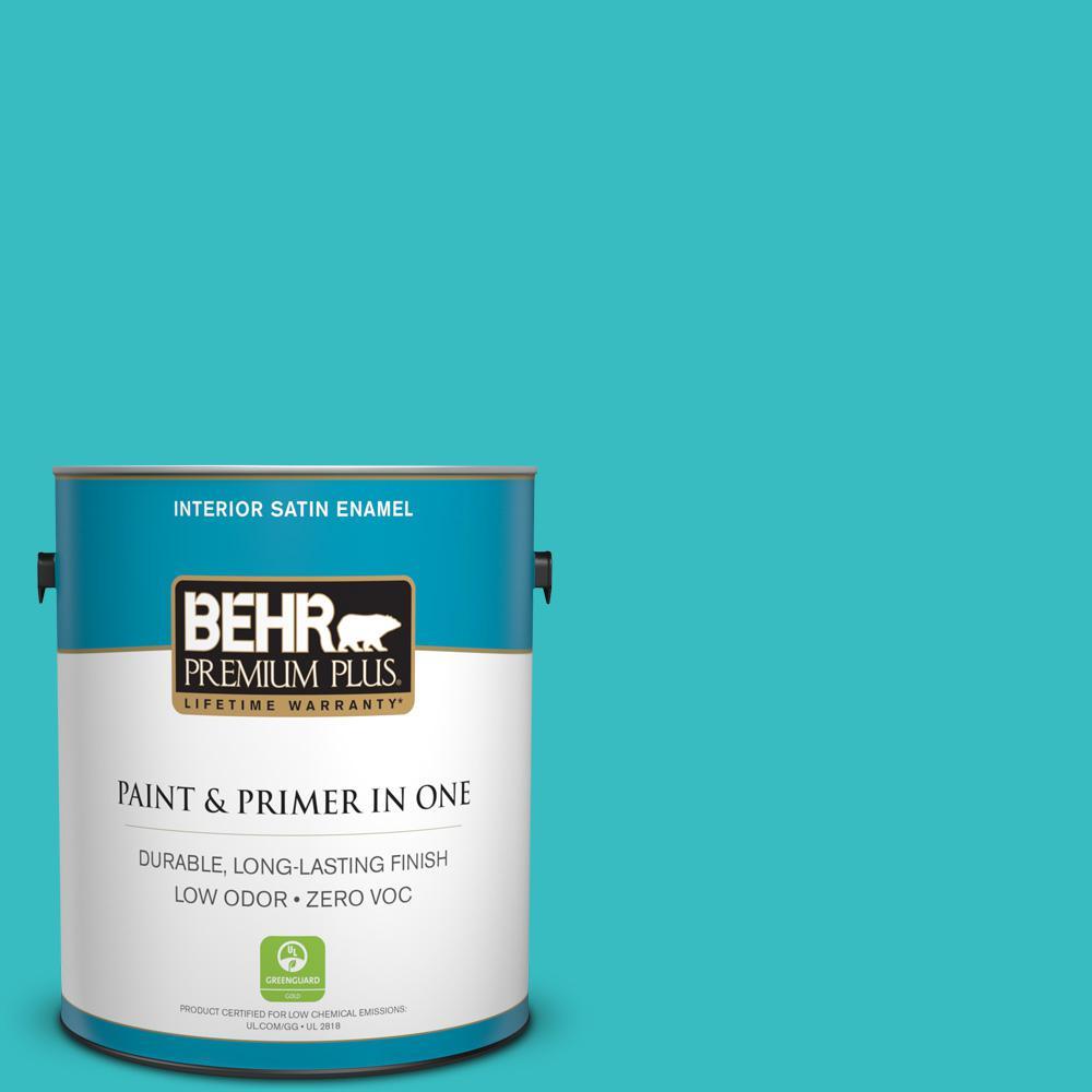 BEHR Premium Plus 1-gal. #P460-4 Lagoon Rock Satin Enamel Interior Paint