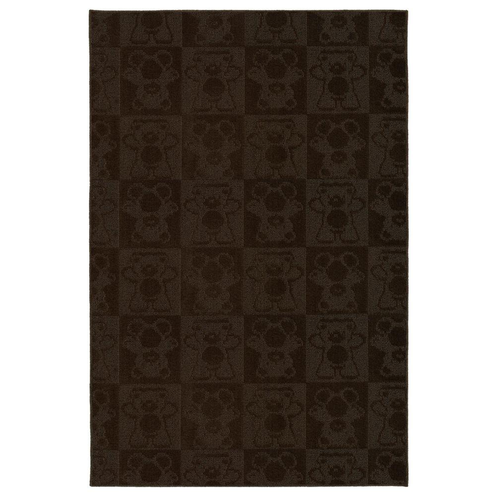 Garland Rug Bears Chocolate 5 ft. x 7 ft. Area Rug-DISCONTINUED