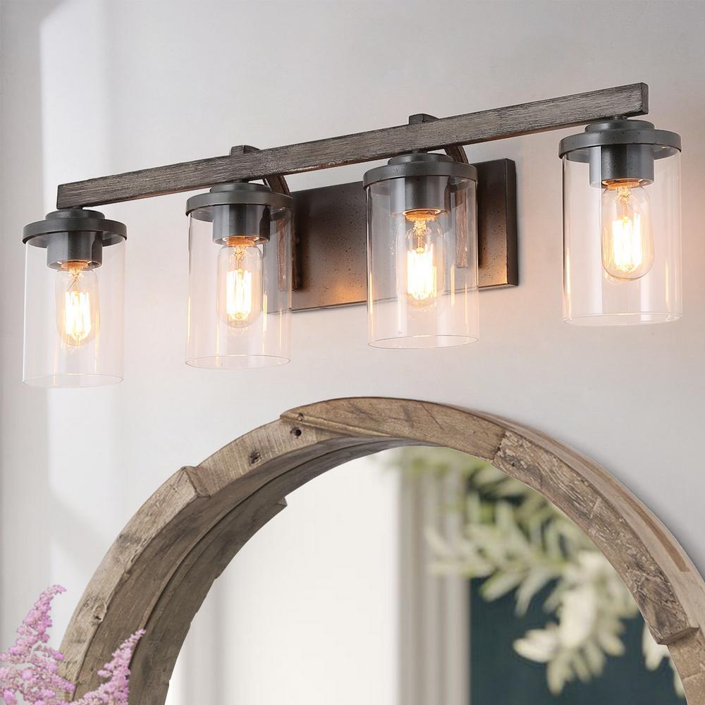 Modern Black Vanity Lighting Lighting The Home Depot