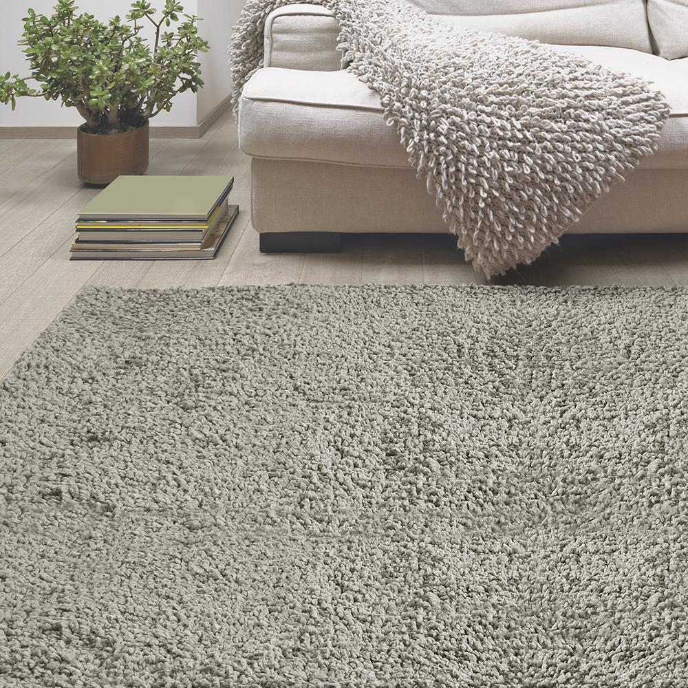 Lanart Palazzo Shag Silver 6 ft. x 9 ft. Area Rug