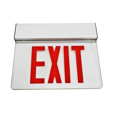EXL2 Series 3.6-Volt Clear Integrated LED Emergency Exit Sign with Red Lettering