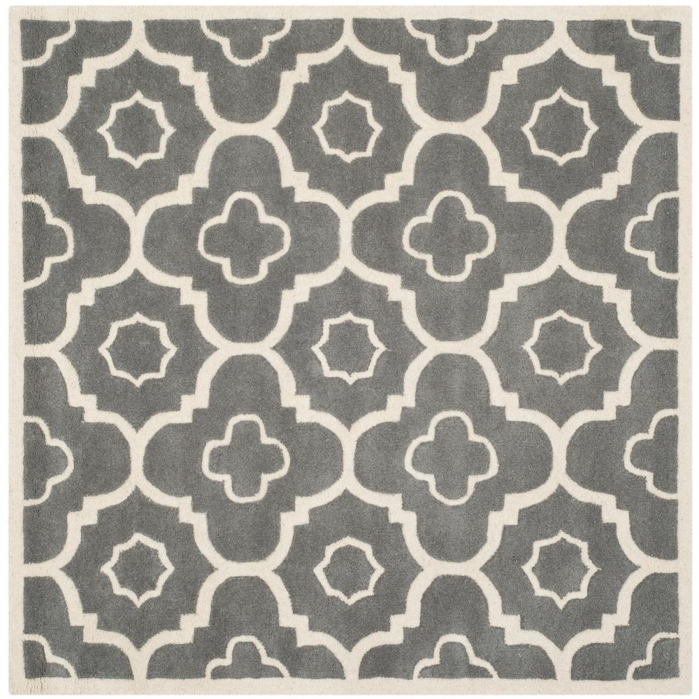 Chatham Dark Gray/Ivory 7 ft. x 7 ft. Square Area Rug