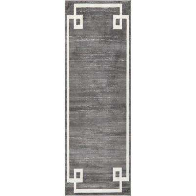 Uptown Collection by Jill Zarin Gray 2 ft. 2 in. x 6 ft. Runner Rug