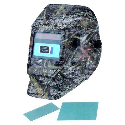 Adjustable Auto-Darkening Welding Helmet with Camo Design