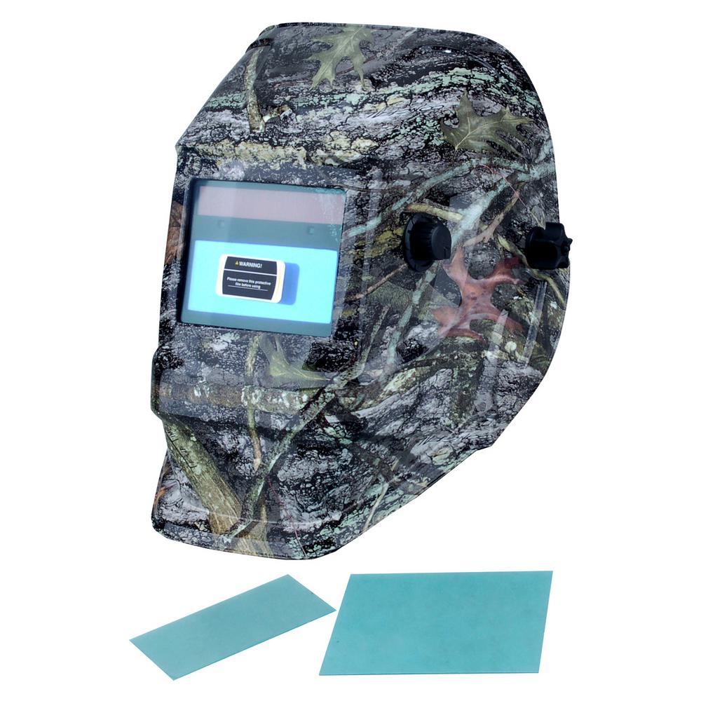 Adjustable Auto-Darkening Welding Helmet with Camo Design