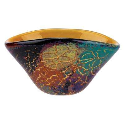 8 in. x 5.5 in. x 5.5 in. Firestorm Oval Bowl