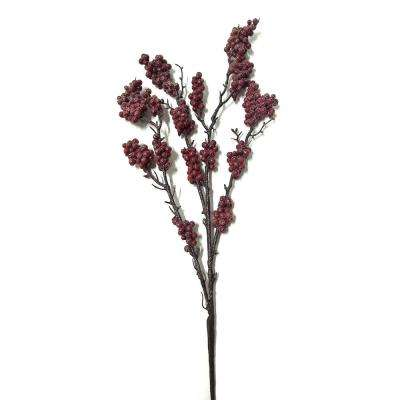 20 in. Decorative Spray-Frosted Berry